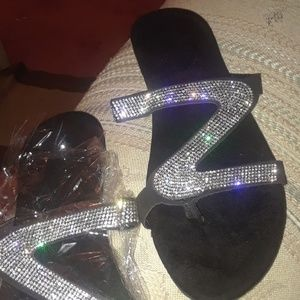NWT New Sequin Sandal